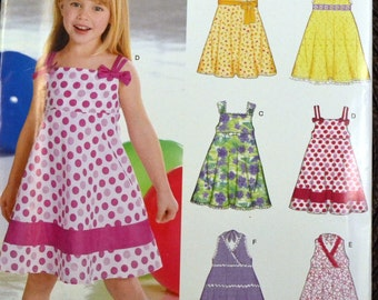 Sewing Pattern New Look 6613  Girls' Dresses  Size 3-8 Complete Uncut