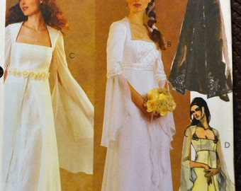 Sewing Pattern McCall's 3010 Misses' Bridal Gown and Bridesmaid Dresses Size 10-12-14 Bust 32-36 inches Uncut Complete