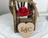 Twig Chair Cake Topper, Rustic Cake Topper, Twig Chair, Rustic Chair