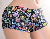 Pokemon Booty Shorts All Adult Sizes - MTCoffinz (Choose Standard Boy Shorts or Low Rise Front)