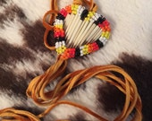 Valentines Beaded quill heart