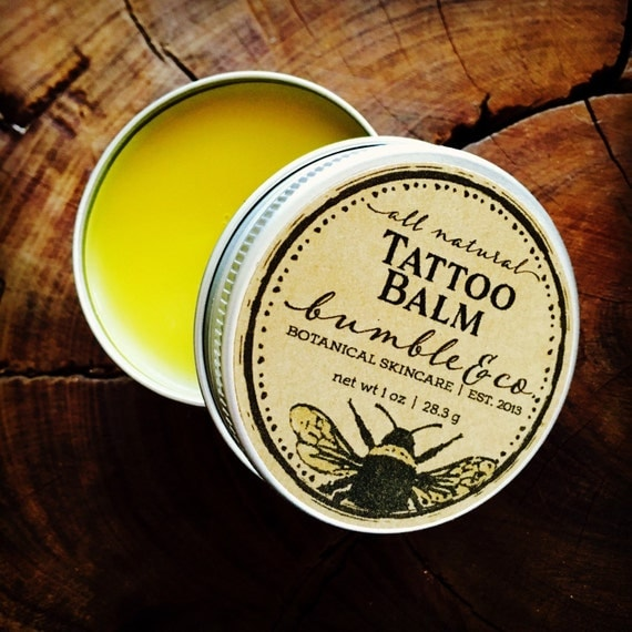 Tattoo Balm Natural Tattoo Aftercare Herbal by BumbleandCo