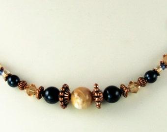 Medical ID Bracelet, alert bracelet, Pearl Blue bracelet attachment,  allergy alert bracelet