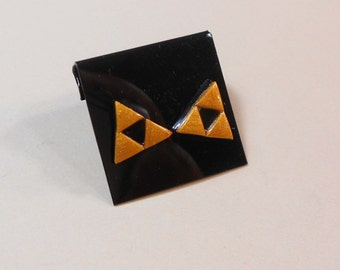 The Legend Of Zelda triforce earrings Nintendo Link Zelda Hyrule polymer clay surgical steel post