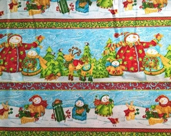 Christmas Snowman - fat quarter