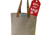 40%off Holiday Sale! T3 SUN MochaChino08 bucket shopping tote bag TESAGE by Yukiko Sato New York