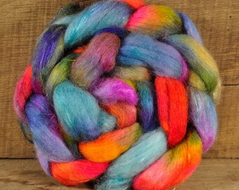 BFL Wool / Sparkly Nylon Top - 'Kingfisher'