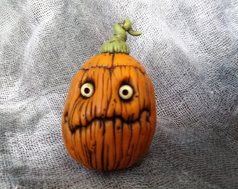 OOaK Clueless Jack Pumpkin Halloween Sculpture