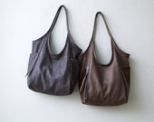 new colors - Five Pocket Tote  -  soft leather tote - soft leather shoulder bag - leather tote
