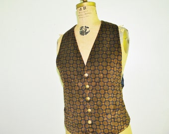 Mens velvet vest Vintage Kenzo vest Made in France