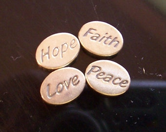 PIF Grab Bag - Choose - Everything or- Hope Faith Peace Love Beads, 6 Pair Angel Wings 15mm,  etc.
