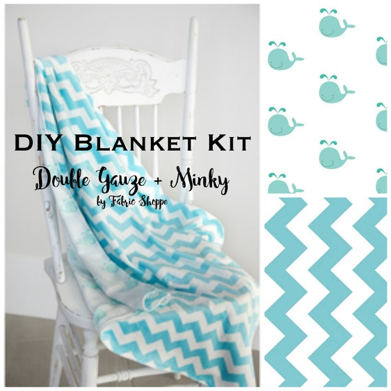 Diy Quilt Kit Baby Boy Quilt Baby Blanket Kit Double Gauze