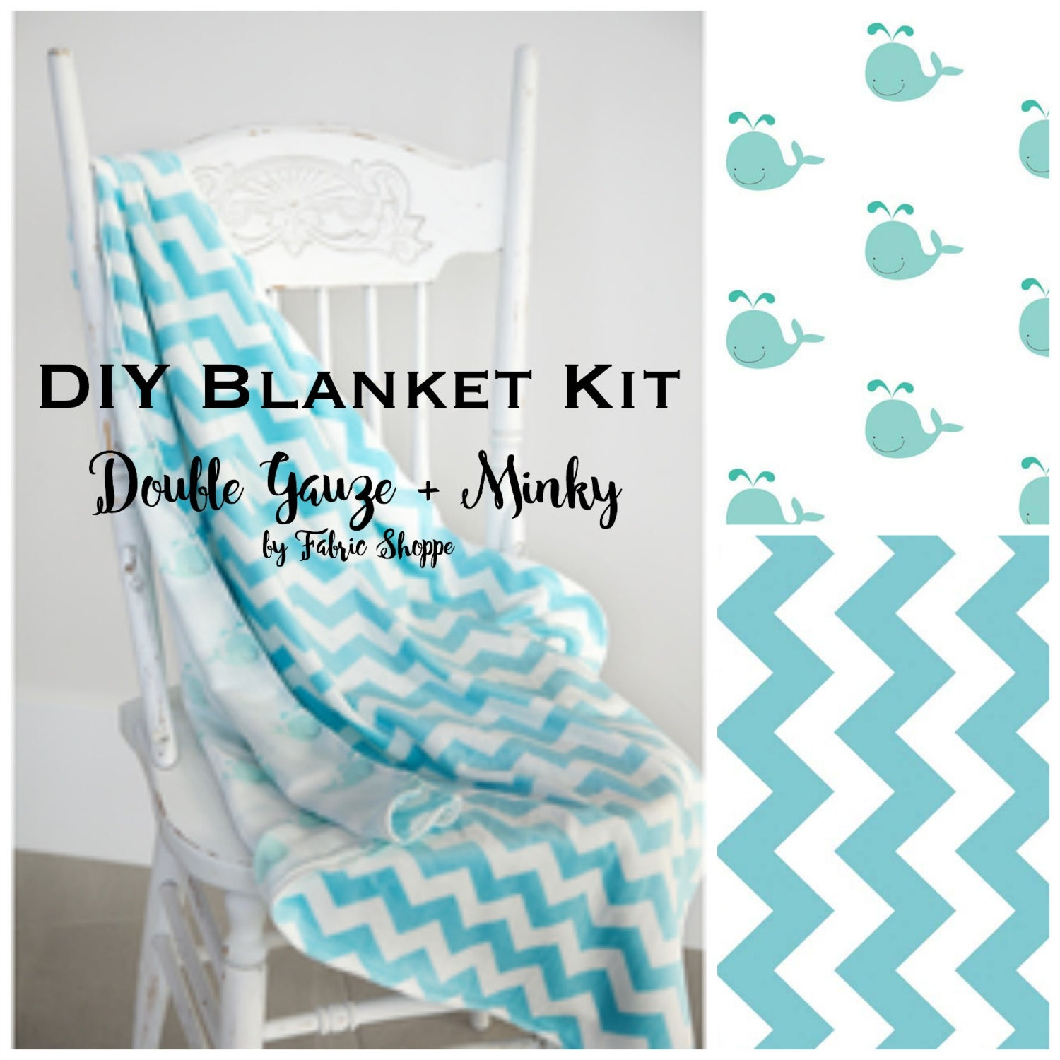 DIY Quilt Kit, Baby Boy quilt, Baby Blanket Kit, Double Gauze ... : fabric for baby quilt - Adamdwight.com