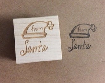 from santa stamp christmas stamp