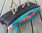 Recycled Bag - Made from bicycle inner tubes - Bike Accessory - Rubber and Metal