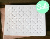 Quatrefoil Patterned Letterpress Note Card