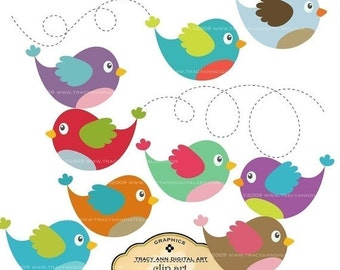 CLIP ART - Flying Birds  commercial and personal use