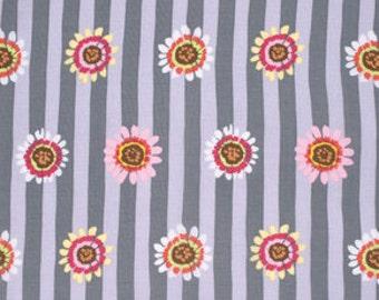"FAT QUARTER FQ92 Kaffe Fassett Regency Daisy Grey PWGP146 Precut 18""x22"" Fabric Cotton Quilting Westminster"
