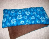 Therapy Rice Bag, Microwave Heat Pack, Rice Heating Pack, Therapy Sack,Blue Flannel with Brown Fleece, Washable Cover,
