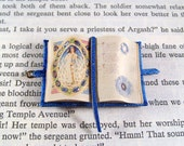 Miniature Book Medieval Gold Illuminated Open Astronomy Book Ooak