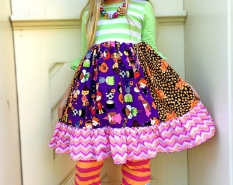 Halloween Costume Party dress girls boutique clothing custom