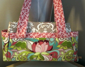 NEW-Diaper/Tote in Lila Tueller's Halle Rose - Ready to Ship