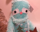 Scrappy Blue Christmas Sloth