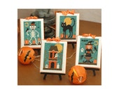 Halloween Cuties Four Cross Stitch Patterns Instant Download