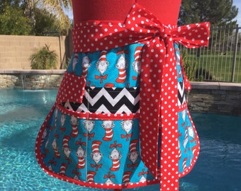 Sassy Vendor Apron, Plus Sizes, Sturdy Twill Half Apron with 6 Pockets, Teachers Gifts, Utility, Gardening, Back to School