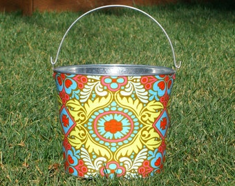 Amy Butlers Orka Kashmir Galvanized Metal Jr. Bucket