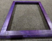 11x14  Curly Maple with Purple Dye Picture Frame
