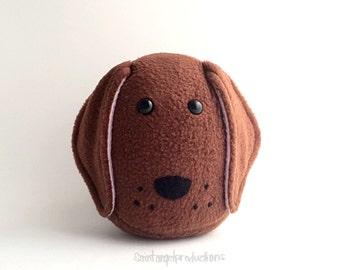 Brown Dachshund Plushie, Cute Stuffed Plush Kawaii Puppy Wiener Dog, READY TO SHIP