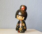Vintage Japanese Kokeshi Figure Large Doll Signed