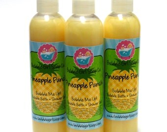 Pineapple Punch 8 Oz. Body Wash Bubble Bath Shower Gel Bubble Me Up! Handmade by Bubble Girl Soap Co.