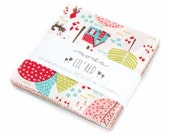 SALE It's here! 5 inch charm pack LIL' RED Moda Fabric by Stacy Iest Hsu