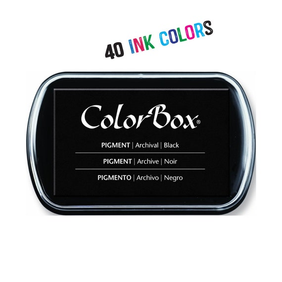 ColorBox Ink Pad, Rubber Stamp Ink, Color Ink Pads, Archival Ink, Stamp Pad, Color Box, Craft Ink Pad, Inks, Craft Supplies, 40 Colors