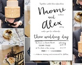 Modern wedding invitations, simple, watercolor, black and white wedding