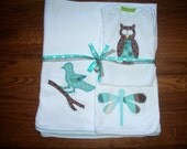 """Custom Layette """"Fly Away Home"""" theme for baby boy"""