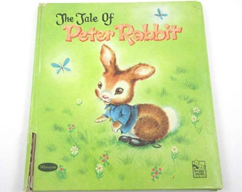 The Tale of Peter Rabbit Vintage 1950s Whitman Children's Book Illustrated by Anne Marie Drutzu