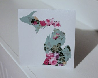 Michigan Vintage Floral Decal  #smittenwiththemitten