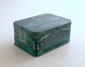 Vintage Tin Box Edgeworth Tobacco Pipe Tobacco