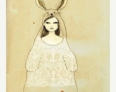 CHRISTMAS SALE Large Print of Silly Rabbit
