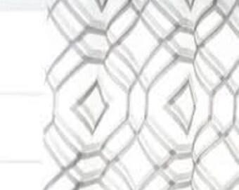 Custom Designer Linked Shapes Sheer Curtains