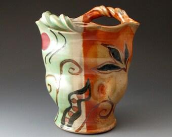 Ceramic Vase, Handmade, Stoneware Vase, Utensils Holder, Flower Vase, Vessel, Home Decor