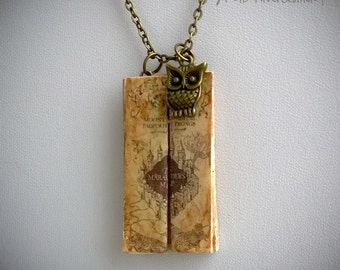 Marauder's Map from the Wizarding World Necklace