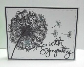 Dandelion Sympathy Card - blank