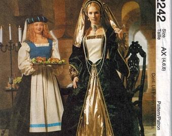 Renaissance Costume Gown Patterns McCalls 2242 Sizes 4-6-8 OOP Maiden Barronness