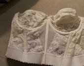 Vintage White Lace Strapless Corset Bra - Circa 1986 - Like a Virgin!