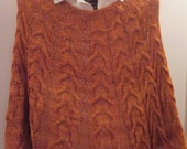 SEDONA Red Rock Hand-knit Cabled Poncho