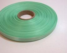 Green Ribbon, Mint Green Satin Ribbon 3/8 inch wide x 10 yards, Single-Faced, Offray Mint Green Ribbon